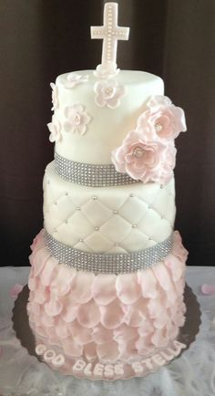 Kommunion Kuchen für Mädchen sehr schön