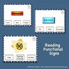 Autism Classroom News: http://www.autismclassroomnews.com Functional Reading Tasks and IEP Goals by Autism Classroom News: http://www.autismclassroomnews.com