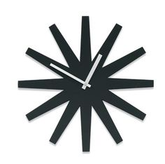 Black Starburst Clock $45