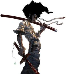 Afro Samurai an excellent anime. Jackson voiced Afro here. Afro Samurai, Dragon Samurai, Samurai Art, Samurai Anime, Samurai Warrior, Comic Books Art, Comic Art, Lagann Gurren, Manga Anime