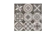 Carrelage DECORO, aspect carreaux de ciment grisé, dim 31,6 x 31,6 cm - Les sols aspect carreaux de ciment - Collection Sol - Saint Maclou