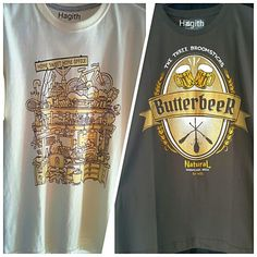 Camisetas Hagith HOME SWEET HOME OFFICE & BUTTERBEER cerveja Harry Potter
