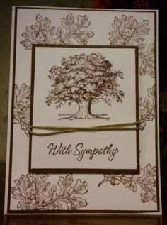 Sympathy by pinkberry - Cards and Paper Crafts at Splitcoaststampers - Jenny Masculine Birthday Cards, Masculine Cards, Sorry Cards, Poinsettia Cards, Card Sentiments, Stamping Up Cards, Get Well Cards, Fall Cards, Card Making Inspiration