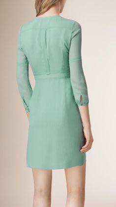 Pleated Silk Dress   Burberry