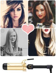 "How to use a 2"" spring curling iron. THIS is how you get straight hair with soft ends? NEED!"