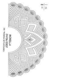 Resultado de imagen de abanicos de bolillos patrones