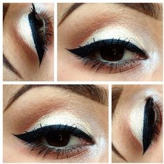 I love white eyeshadows, I would add some glitter :-)