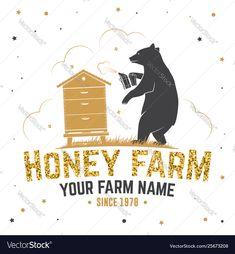 Honey bee farm badge concept for shirt Royalty Free Vector , Canoe And Kayak, Kayak Fishing, Free Vector Images, Vector Free, Chalkboard Vector, Ski Club, Bee Farm, Neon Design, Pink Cards