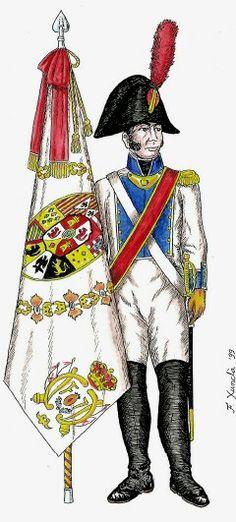 Alfiere di un rgt. di fanteria francese