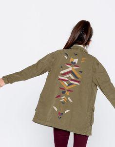 Pull&Bear - kadın - giyim - kabanlar ve ceketler - askeri̇ ceket - haki - 09710365-I2016