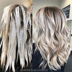 Balayage application and finished Dimensional blonde action Hair Color For Women, Hair Color And Cut, Ombre Hair Color, Balayage Hair, Bayalage, Haircolor, Brown Balayage, Hair Highlights, Gorgeous Hair