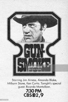 CBS Television advertisement as appeared in the September 1970 issue of TV Guide magazine. A spot ad for the Monday night western: Gunsmoke. The show stars James Arness. Milburn Stone, Ken Curtis, 1970s Tv Shows, Tv Westerns, Best Western, Tv Guide, Photo Archive, Special Guest, Best Tv