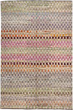 old yarn kilim rug from loom