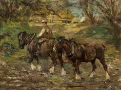 Smith, George, (1870-1934), Farm Horses, Oil