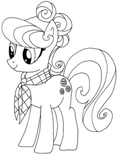 Cute Little Ponies And Magical Rainbow Coloring Pages