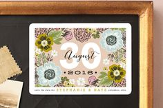 Cottage Garden Save the Date Magnets by Alethea and Ruth at minted.com