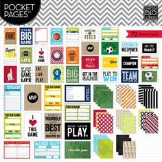 Me & My Big Ideas - Pocket Scrapping - Sports cards