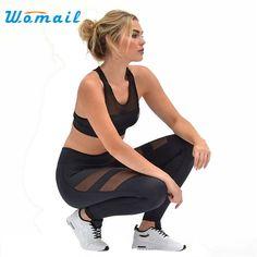 Premium WOMAIL Women Yoga Sports Running Pants Women's High Waist Sexy Skinny Leggings Patchwork Mesh Push Up Yoga Pants Gifts #women, #men, #hats, #watches, #belts, #fashion, #style