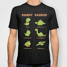 DANDYSAURUS - Dark Version T-shirt by AnishaCreations - $22.00