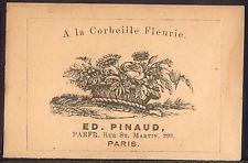 A La Corbeille Fleurie ED. PINAUD Perfume Bottle Label Paris 1890