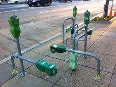 Parking Meter Bike Racks, Washington, D.C.