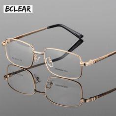 Buy BCLEAR Fashion eyeglasses classic thick gold plating men's new full frame optical glasses frame fashion spectacle frames Mens Glasses Frames, Glasses For Men, Glasses Trends, Eyeglass Frames For Men, Men Eyeglasses, Optical Glasses, Optical Frames, Gold Plating, Classic