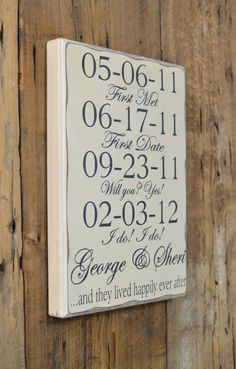 Interactive Decor Custom Name Wedding Date Sign Rustic 5th Anniversary Wedding Anniversary Song Sign Personalized Anniversary Gift