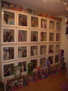 Barbie room!   Storage/display ideas, wonderful!