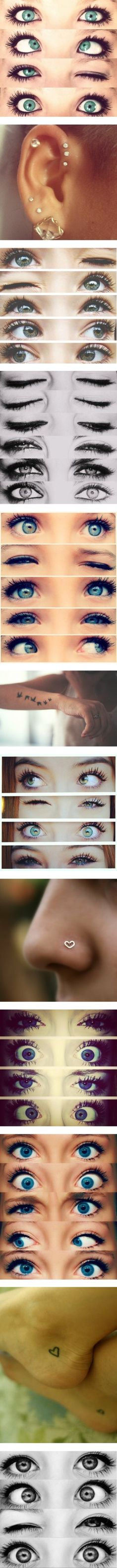 """""""eyyyees, tattoos, and peircings :D"""" by i-sleep-with-sirens on Polyvore   love the piercing and tattoo ideas (especially the heels) and the eyes make me laugh ;DD"""