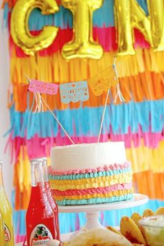 Don't miss this incredible Cinco de Mayo Fiesta! The cake is fantastic! See more party ideas and share yours at CatchMyParty.com Fiesta Cake, Fiesta Party, Bridal Shower Cakes, Baby Shower Cakes, Mexican Birthday Parties, Rustic Cake, Holiday Cakes, Gorgeous Cakes, For Your Party