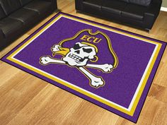 East Carolina 8'x10' Rug $369.99 http://sdsmarket.com Show off your team pride in a big way! 8'x10' ultra plush area rugs won't leave any doubt about who you will be rooting for on game day! Non-skid backing keeps rug in place. Made of 32 ounce nylon carpet, which feels great on your feet. Chromojet printed  Features:  32 oz., 100% Nylon Face  Duragon latex backing for a durable and longer-lasting product  Machine made in the USA  Non-skid backing to ensure stability  Vacuum regularly and…