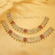 Industrious Indian Ethnic Bollywood Antique White Tone Payal Pearl Anklet Wedding Jewelry Costume Jewellery