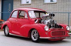 morris minor hotrod 1960 with Morris Minor, Classic Cars British, British Car, Mini Morris, Ford Anglia, Aussie Muscle Cars, Hot Rod Trucks, Chevrolet Chevelle, Small Cars