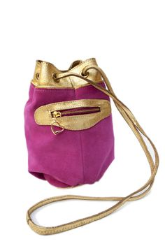 Luxor, Bucket Bag, Facebook, Twitter, Sweet, Bags, Fashion, Hot Pink, Bronze