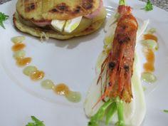Tigella  ''(  petit  pain )''  façon au modenais  avec  mortadelle   et fromage  molle, Homard  au  jus  de  fenouil  et  sauce  americaine   Gino D'Aquino