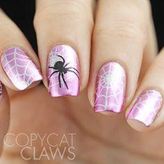 Spider Nail Stamping