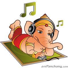 ganesha_online_music Shri Ganesh Images, Ganesh Chaturthi Images, Ganesha Pictures, Happy Ganesh Chaturthi, Ganesha Drawing, Ganesha Painting, Ganesha Art, Lord Ganesha, Ganesh Rangoli