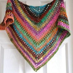 Triangular Crochet Shawl In Gypsy Style