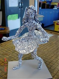 Well, over the last 2-3 days, my 7th graders were making aluminum foil people. We had already studied figure drawing and learned about pro...