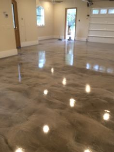 Gray White Epoxy Metallic Floor Prettiest Garage EVER
