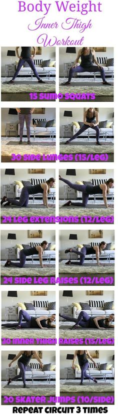 This body weight inner thigh workout is going to get your heart pumping and your legs and booty burning. And you can do it at home!