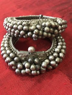 1137 Old Heavy Heirloom Silver Payal Anklets Indian Jewelry - Jewelry, sparkles and all things bling - India Jewelry, Old Jewelry, Tribal Jewelry, Jewelry Art, Antique Jewelry, Jewelery, Antique Decor, Jewelry Design, Silver Payal