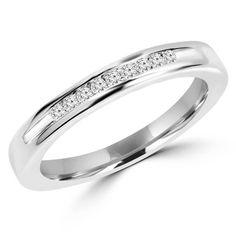 - Majesty Diamonds - 1/2 CTW Diamond Channel Set Semi-Eternity Wedding Band Anniversary Ring in 14K White Gold, $759.00 (http://www.majestydiamonds.com/1-2-ctw-diamond-channel-set-semi-eternity-wedding-band-anniversary-ring-in-14k-white-gold/)