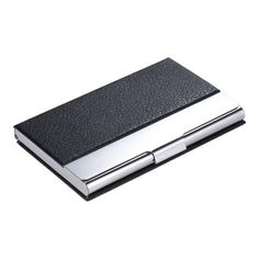 Tomtop tomtop high quality pocket size synthetic pu leather tomtop tomtop high quality synthetic pu leather stainless steel business name card reheart Choice Image