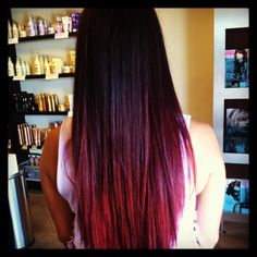 Red ombre by Sydney @Eric Lee Fisher Salon