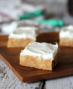 White Trash Bars - these look fun and easy. I like the suggestion to melt chocolate on the hot out-of-the-oven pieces.