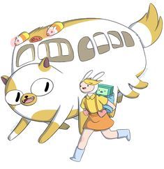 Adventure Time x Ghibli crossovers. TOTORO, of course. by dmd.