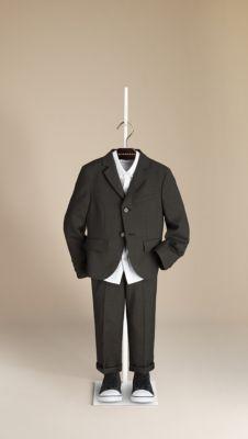 Check Undercollar Wool Jacket