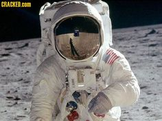Man on the moon......  Actual historical photo.