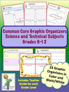 Graphic Organizers for Common Core Science and Technical Subjects in Grades 6-12.